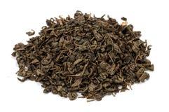 Green leaf tea on white Royalty Free Stock Image