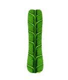 Green Leaf Texture Alphabet Stock Photo