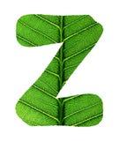 Green Leaf Texture Alphabet Royalty Free Stock Photography