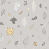 Green leaf. Vector seamless pattern. Stock Images