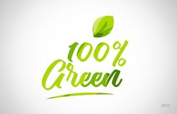 100% green green leaf word on white background. Suitable for card icon or typography logo design vector illustration