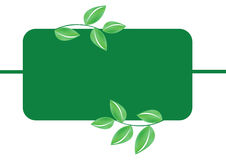 Green leafs banner - vector Stock Image