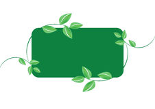 Green leafs banner - vector Stock Photography