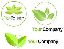 Green leafs bio logo Royalty Free Stock Photo