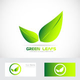 Green leafs bio logo Royalty Free Stock Photos