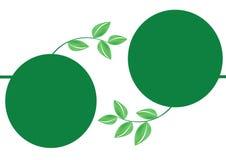 Green leafs frame - vector Stock Photos