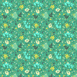 Green leafs pattern Royalty Free Stock Photography