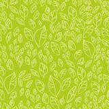 Green leafs seamless pattern Royalty Free Stock Photos