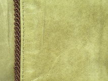 Green leather. Natural coloured green leather textures suitable as background Stock Photos
