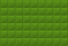 Green leather background Stock Image