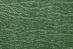 Green leather background and texture Stock Images