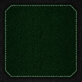Green leather background with white seam Royalty Free Stock Photography