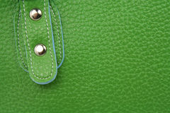 Green leather bag Royalty Free Stock Photography