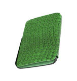 Green leather case note book isolated Stock Photography