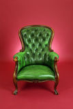 Green leather chair Stock Photo