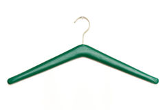 Green leather  coat hanger Royalty Free Stock Photo