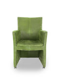 Green leather dining room chair Stock Photos