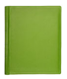 Green leather hardcover book Stock Image