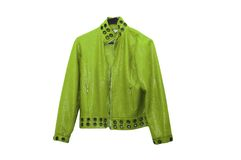 Green leather jacket Royalty Free Stock Photos