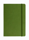Green leather notebook isolated royalty free stock photography