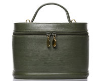 Green Leather Round Bag Stock Photography