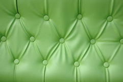 Green leather seat upholstery. Texture and pattern of green leather seat upholstery Stock Image