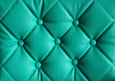 Green leather sofa Royalty Free Stock Photos