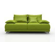 Green leather sofa vector illustration