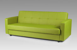 Green leather sofa Stock Photo