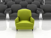 Green leather sofa Royalty Free Stock Photo