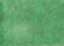 Green leather surface. Royalty Free Stock Photography