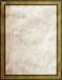 Green leather texture. Green, gold & beige leather texture frame Stock Image