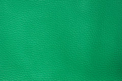 Green leather texture background Stock Photos