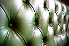 Green leather upholstery Royalty Free Stock Images