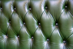 Green leather upholstery texture Royalty Free Stock Photography