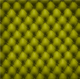 Green leather upholstery. Vector. Stock Photo