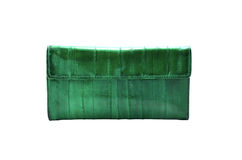 Green leather wallet Stock Photography