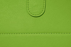 Green leather wallet Royalty Free Stock Photos