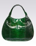 Green leather woman bag Royalty Free Stock Images