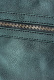 Green leather with zipper Stock Images