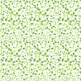 Green leave seamless pattern vector illustration on a white background Royalty Free Stock Photo