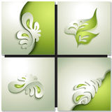Green leaves abstract background Stock Image