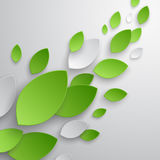 Green leaves abstract background. Stock Photos