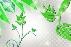 Green leaves, abstract background Royalty Free Stock Photography