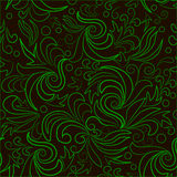 Green leaves with abstract swirls. Stock Photography