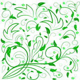 Green leaves with abstract swirls. Stock Images