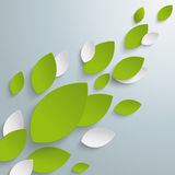 Green Leaves Background PiAd. White leaves on the grey background. Eps 10  file Stock Photo