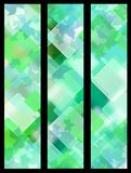 Green leaves banners Stock Images