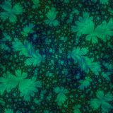 Green Leaves on Black Abstract Background. Abstract Background or Wallpaper resembling a green leaf pattern on a black background vector illustration