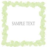 Green leaves border. Abstract green leaves border on white background, vector art Stock Photos